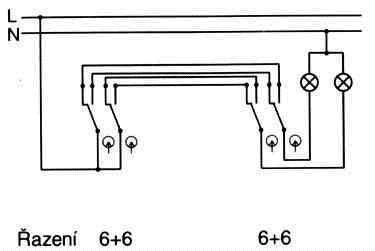 Zapojení vypínačů schodiště